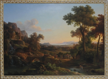 An Arcadian landscape with the