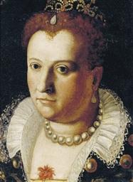 Portrait of a noblewoman, bust