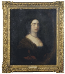 Portrait of a lady wearing a p