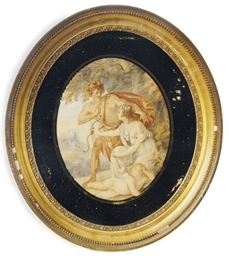 Venus and Adonis with Cupid