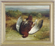 A dead grouse in the Highlands; and a companion painting