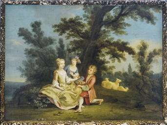 A courtship in the woods