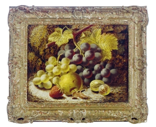 Still life of grapes and other