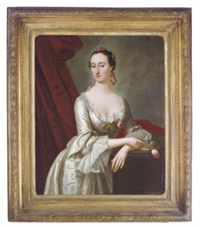 Portrait of a lady in a white