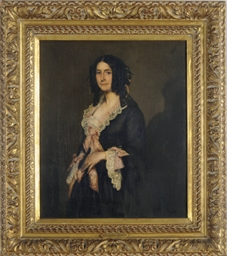 Portrait of a lady in a black
