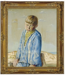 Portrait of a young boy, age s