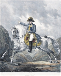 Napoleon on his horse; and six