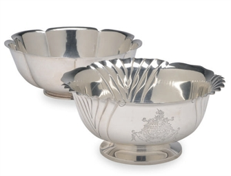 TWO SILVER BOWLS,