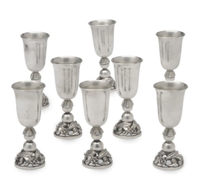 A SET OF EIGHT AMERICAN SILVER