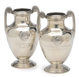 TWO AMERICAN SILVER TROPHIES,