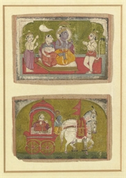 TWO INDIAN MANUSCRIPT PAINTING