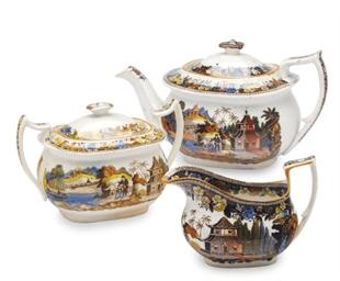A STAFFORDSHIRE PEARLWARE TEAS