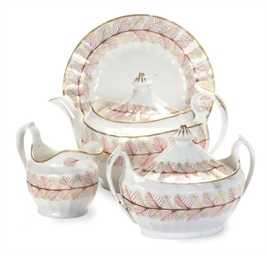 AN ENGLISH PORCELAIN TEA SERVI