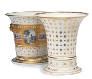 TWO SIMILAR PARIS PORCELAIN GI