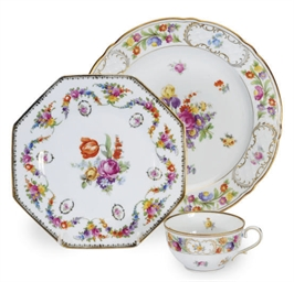 A GERMAN PART DINNER SERVICE,