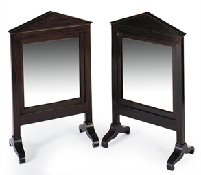 A PAIR OF MAHOGANY ARCHITECTUR