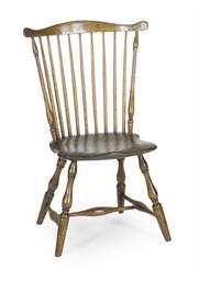 A WINDSOR FAN-BACK SIDE CHAIR,