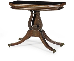 A FEDERAL MAHOGANY SWIVEL-TOP