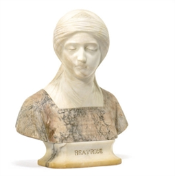 AN ITALIAN MARBLE BUST OF BEAT