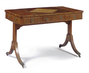 AN EDWARDIAN MAHOGANY, WALNUT