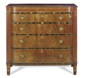 A REGENCY MAHOGANY AND CALAMAN