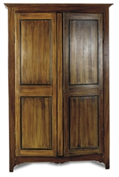 A FRENCH GRAIN-PAINTED ARMOIRE