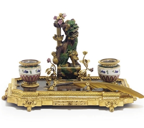 A GILT-METAL MOUNTED PORCELAIN