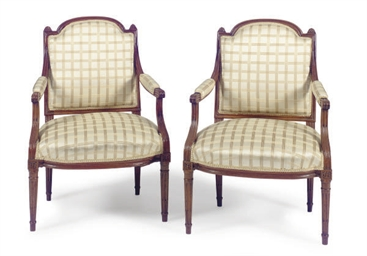 A PAIR OF LOUIS XVI FRUITWOOD