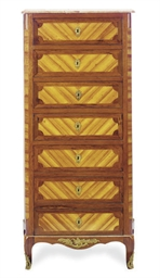 A LATE LOUIS XV TULIPWOOD AND