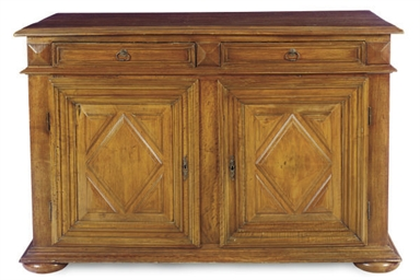 A CONTINENTAL WALNUT BUFFET,