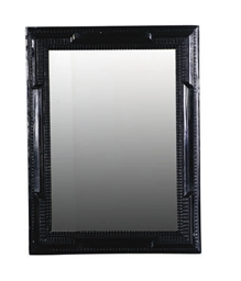 A DUTCH EBONIZED MIRROR,