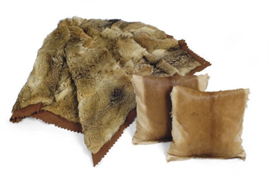 A FOX FUR THROW,