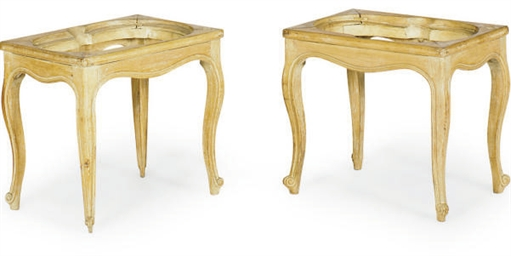 A PAIR OF FRENCH BEECHWOOD BID