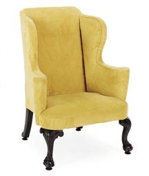 AN ENGLISH MAHOGANY WINGBACK A