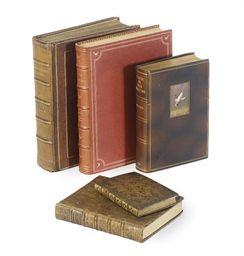 A GROUP OF FIVE LEATHER-BOUND