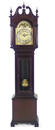 A MAHOGANY TALL CASE CLOCK,