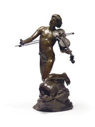 A FRENCH BRONZE FIGURE OF A VI