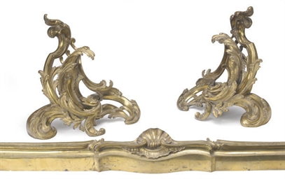 A PAIR OF FRENCH ORMOLU CHENET