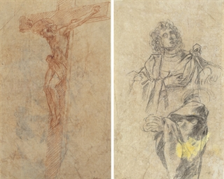 The Crucifixion (recto); Study