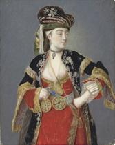 Presumed portrait of Laura Tarsi in Turkish dress