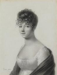 A portrait of a woman, bust-le