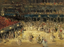 The masked ball, St. Mark's square, Venice