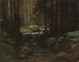 A stream in the forest of Font