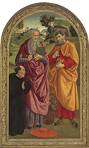 Saint Jerome and Saint Joseph with a donor
