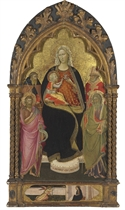 The Madonna and Child with Saints John the Baptist, Andrew, Anthony Abbot, and Nicholas of Bari; the Annunciation in the predella