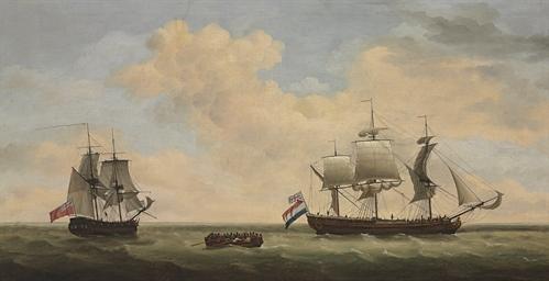 A Royal Navy 14-gun brig accep