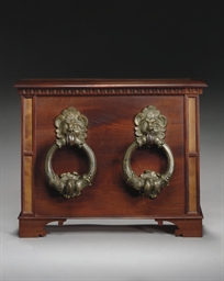 A PAIR OF BRONZE DOORKNOCKERS