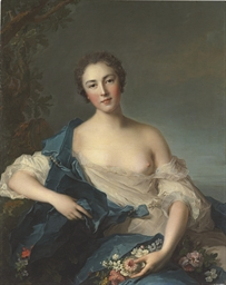 Portrait of a woman as Flora
