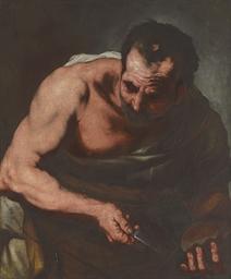 A male saint or philosopher