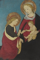 The Madonna and Child with an Angel